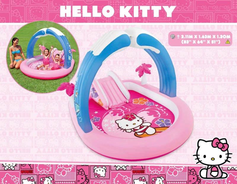 "Игровой центр 211х163х130см ""Hello Kitty"" Sanrio, от 3 лет, Intex 57137"